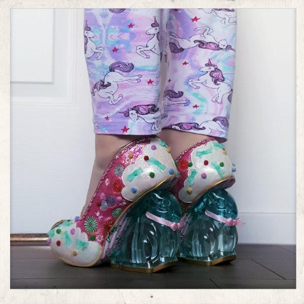 irregular choice perspex bunny heel shoes