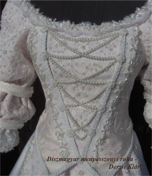 694c4986e9 Derzsi Klári - Díszmagyar menyasszonyi ruha - Eladó - (Ajándék ...