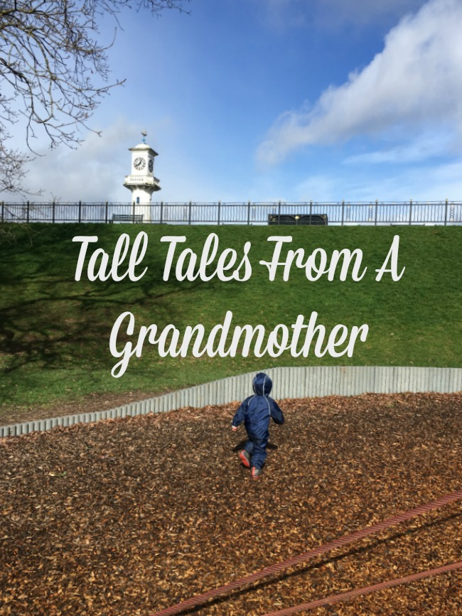 Tall-tales-from-a-grandmother-text-over-an-image-of-toddler-in-a-park