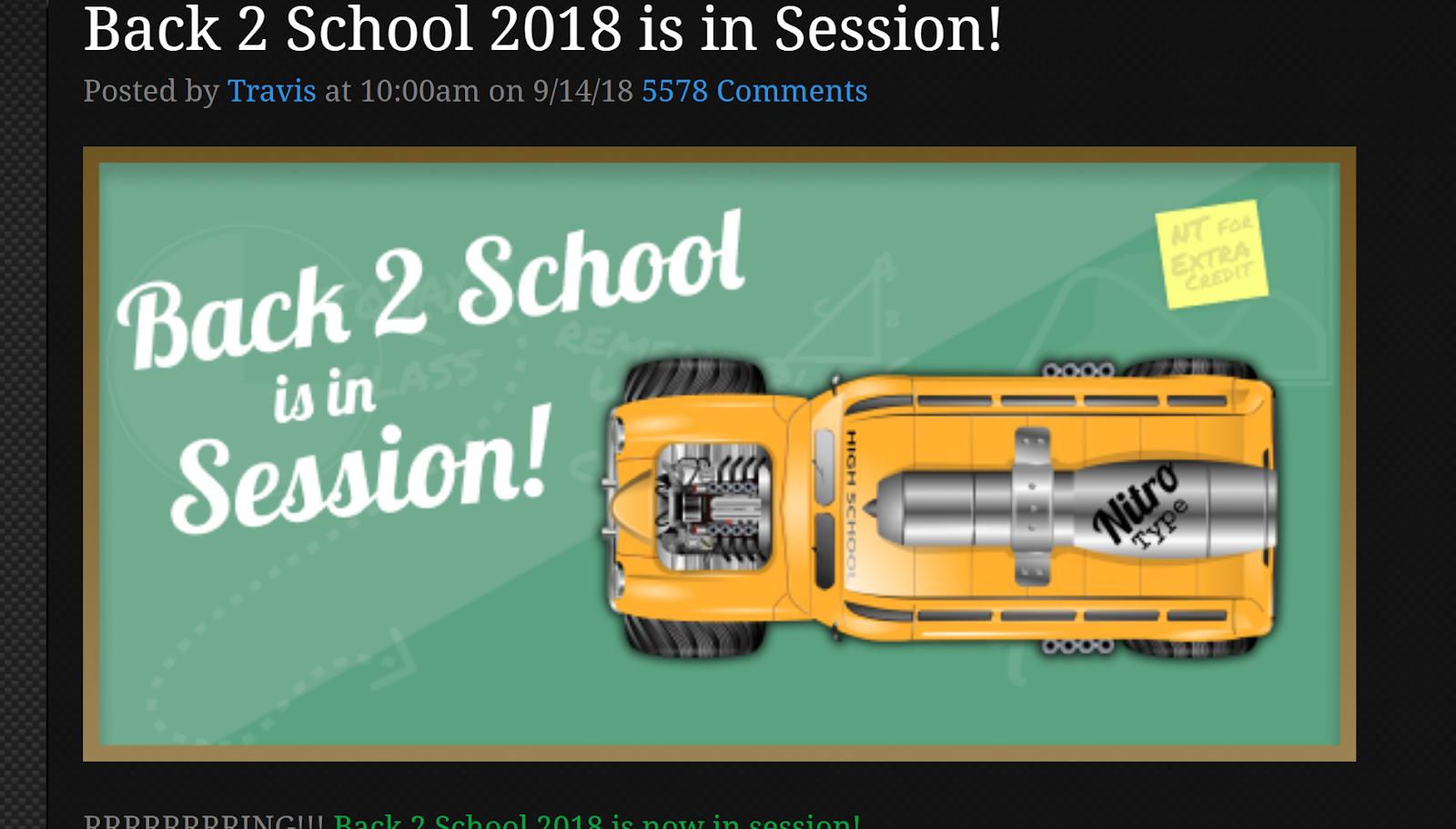 Back 2 School Event Cars Information