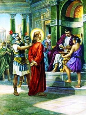 Viacrucis 1 - Jesus Sentenciado A Muerte