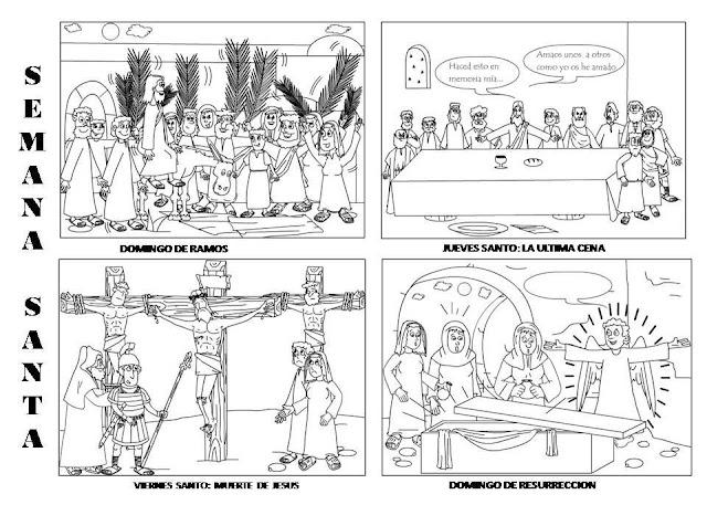 Dibujos Colorear Semana Santa Infantil: Parroquia La Inmaculada: Semana Santa: Para Colorear Y Una