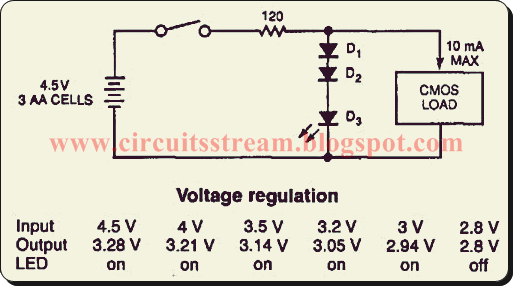 Build a Diode Cmos Stabilizer Circuit Diagram