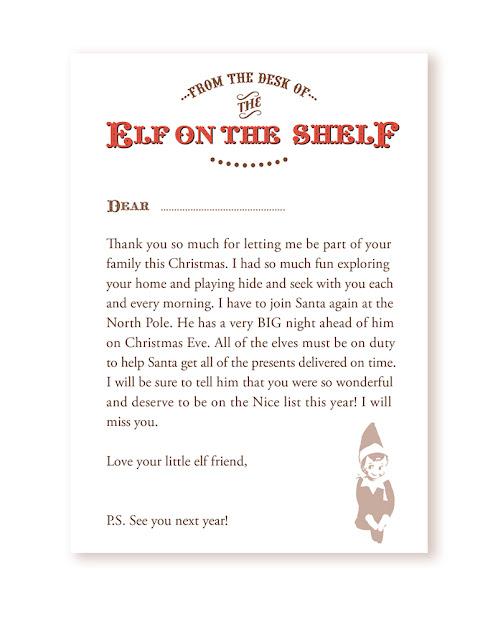 Elf On The Shelf Printables Welcome Letter Elf Return Letter Elf