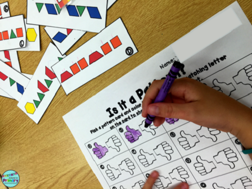 Differentiate between patterns and non-patterns with this patterning center.