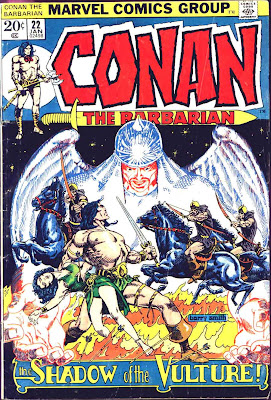 Conan the Barbarian v1 #22 marvel comic book cover art by Barry Windsor Smith