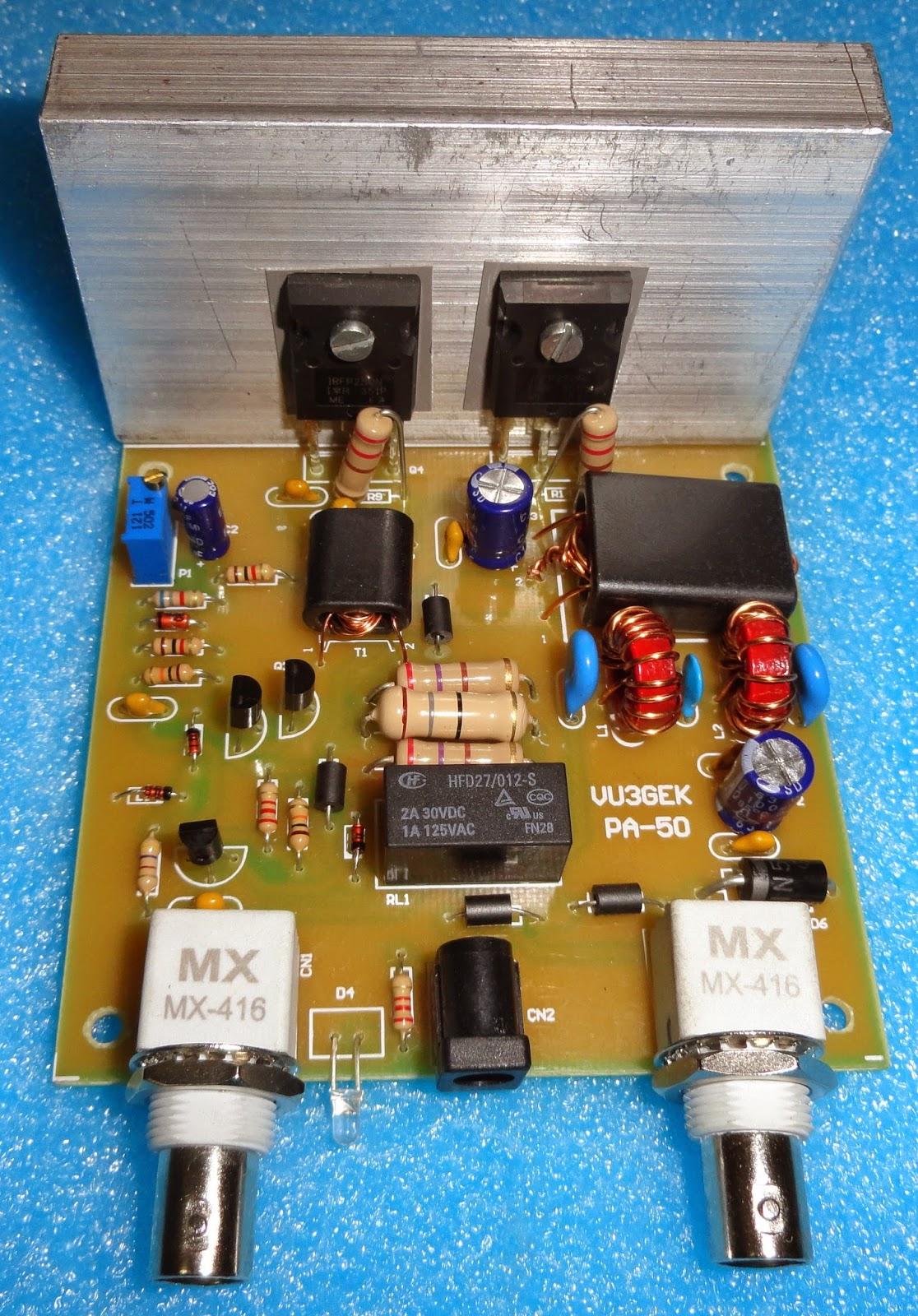 Home Brew Corner: GEK 10/20/50 Watts HF Amplifier Kit
