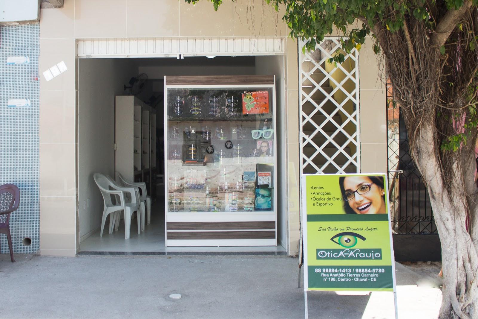 45eb6c2011bc5 Ótica Araujo está com novo endereço e novas instalações em Chaval ...