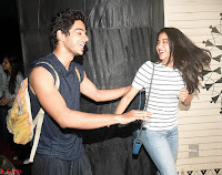 Jhanvi Kapoor and Ishaan Khattar   The Dhadak Movie Pair Spotted Dining Together ~  Exclusive Galleries 002.jpg