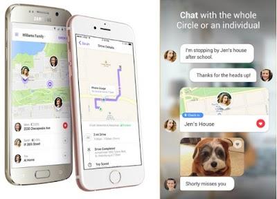 Localizador ubicacion familiar con chat en app