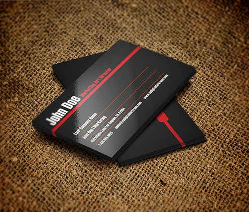 Free PSD Store: Simple Business Card PSD Template-by John Doe