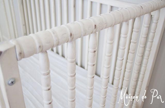 Rustic Spindle Crib- Maison de Pax