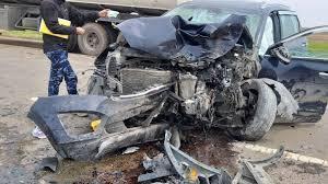 فى يوم الزفاف, تفاصيل الحادث, تصادم اتوبيس و3 سيارات ملاكي, الغربية,