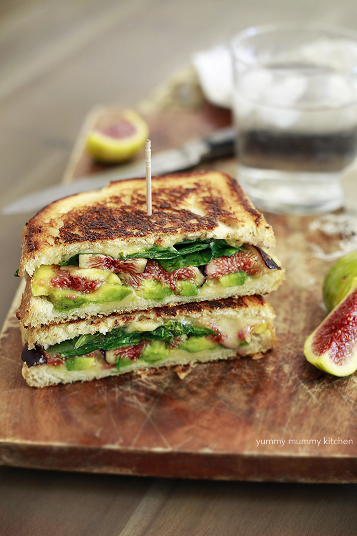fresh fig grilled cheese sandwich
