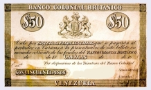 Primer Billete en Venezuela