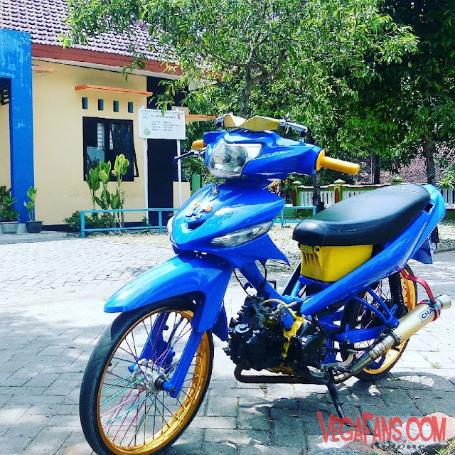 Vega ZR Modif Simple Racing biru