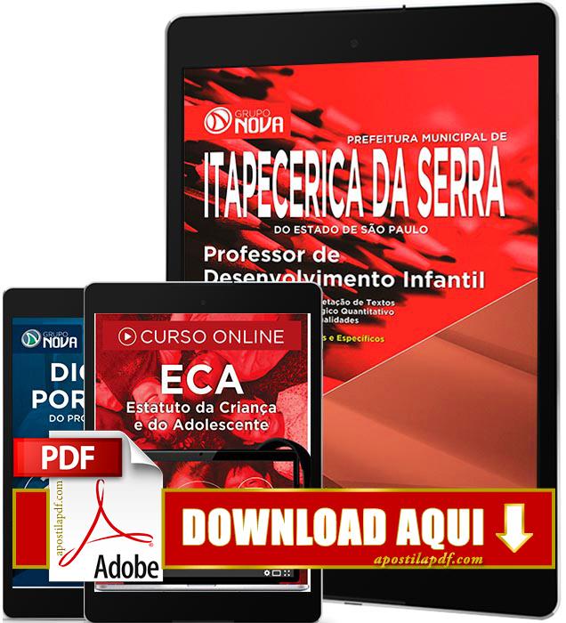 Apostila Prefeitura de Itapecerica da Serra 2016 PDF Download Professor de Desenvolvimento Infantil