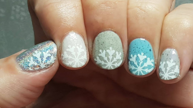 stamping, nailart, winter, snow, bases, indie polish, indie makers