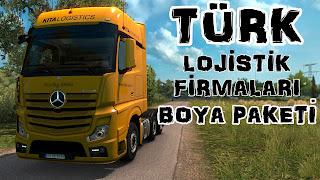 Turkish Logistics Companies Paint Jobs Pack, Türk Lojistik Firmaları boya Paketi