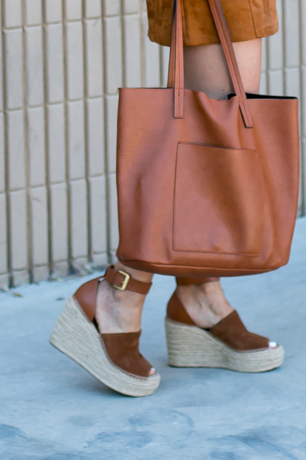 cognac wedge espadrille sandals