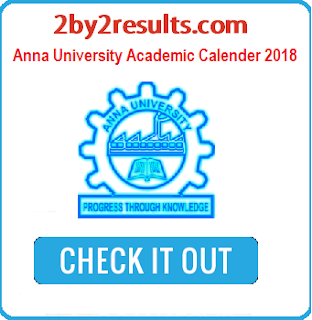 Anna University Academic Calendar 2018 Even Semester Notification