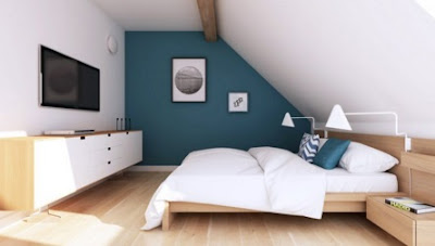 Loft Apartment Interior Design - Modern design attic apartments bedroom