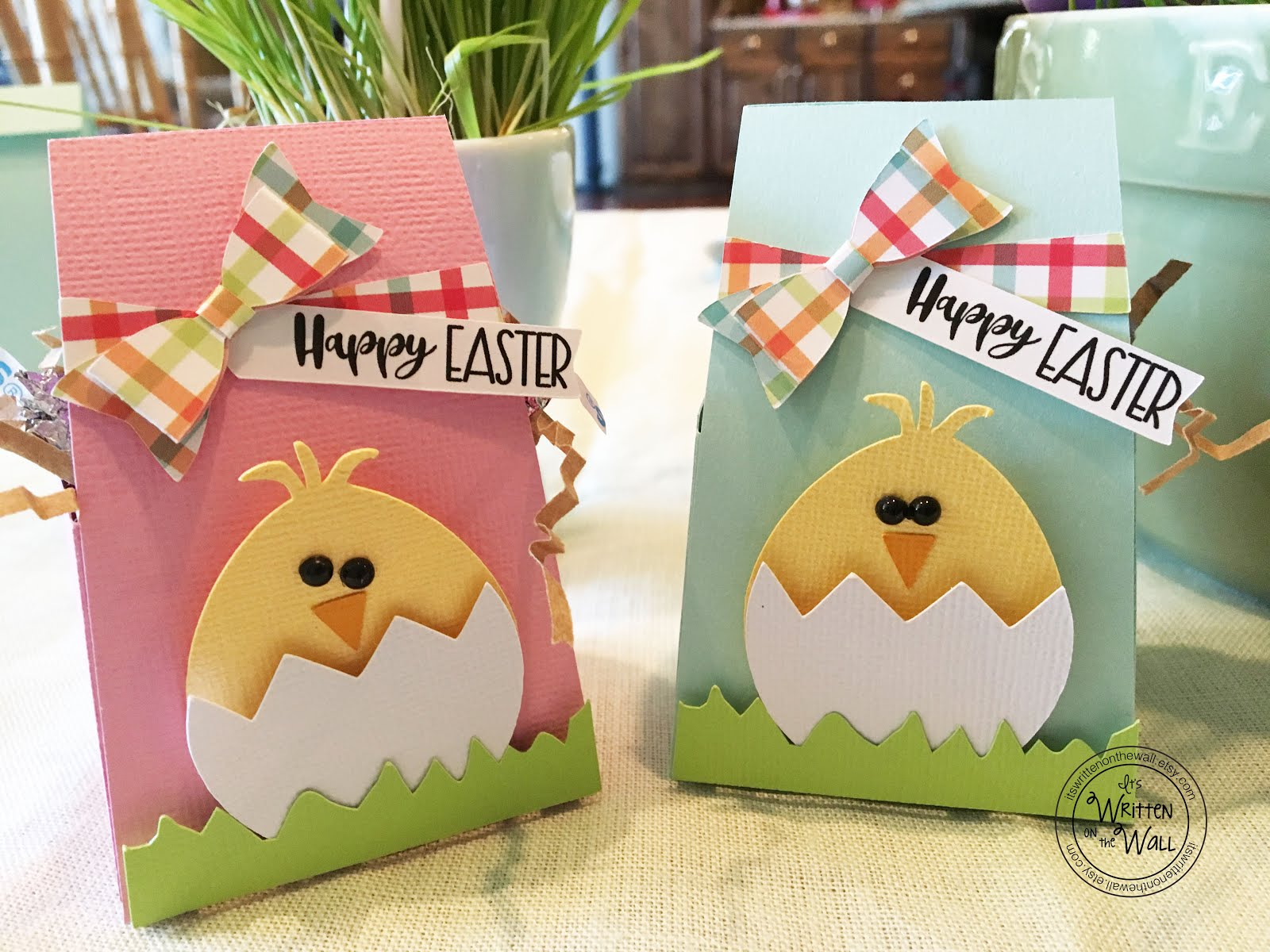 Pink and Blue Easter Chick Treat Boxes