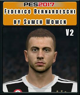 PES 2017 Faces Federico Bernardeschi by Sameh Momen