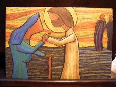 Αποτέλεσμα εικόνας για jesus and the bent over woman