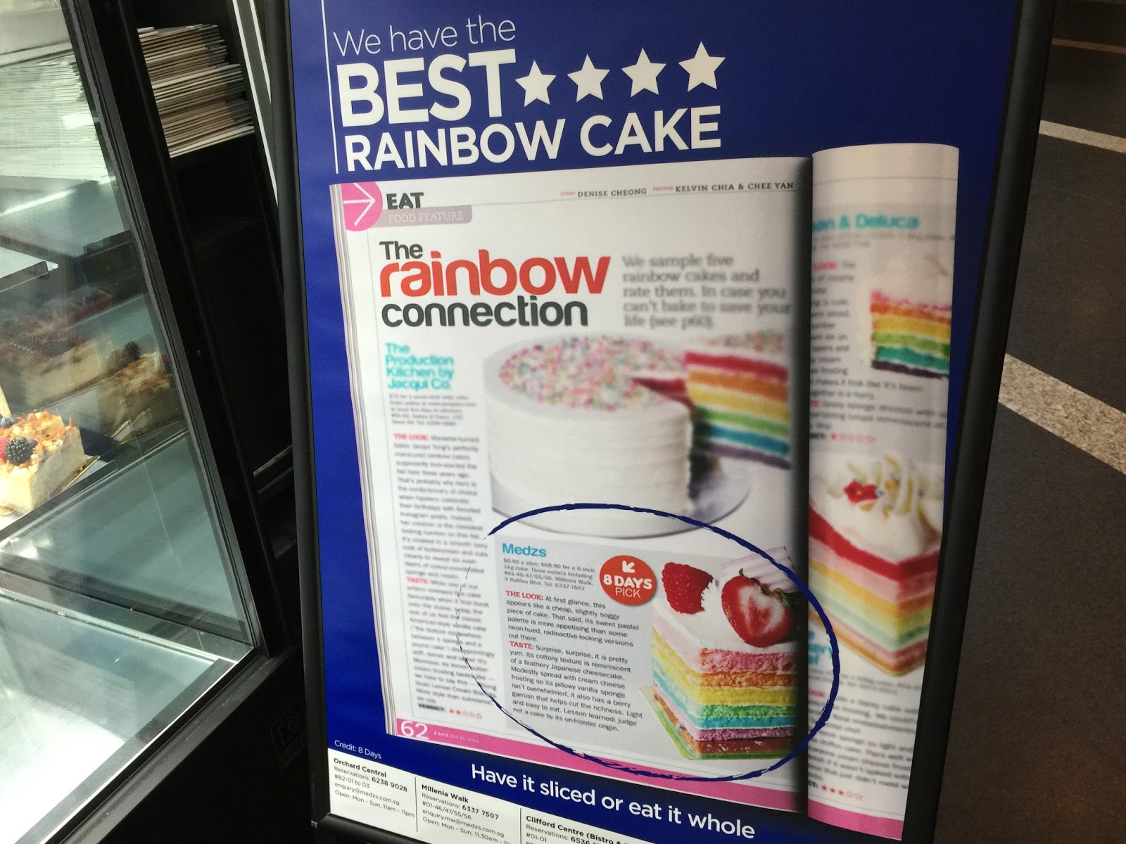 8 Days - MEDZS Bistro and Bar Rainbow Cake