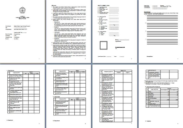 Contoh Buku Rapor SD Kelas 5 Kurikulum 2013 Format Microsoft Word