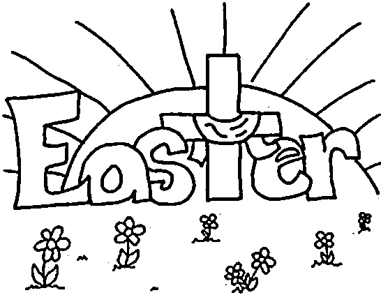 easter christian coloring pages kindergarten | Christian Easter Coloring Pages