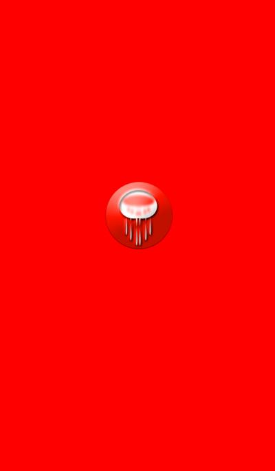 不思議な赤いクラゲ