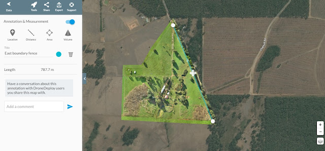 Chestnut Brae Drone scan Small farm planning map using Drone Deploy - Image 3