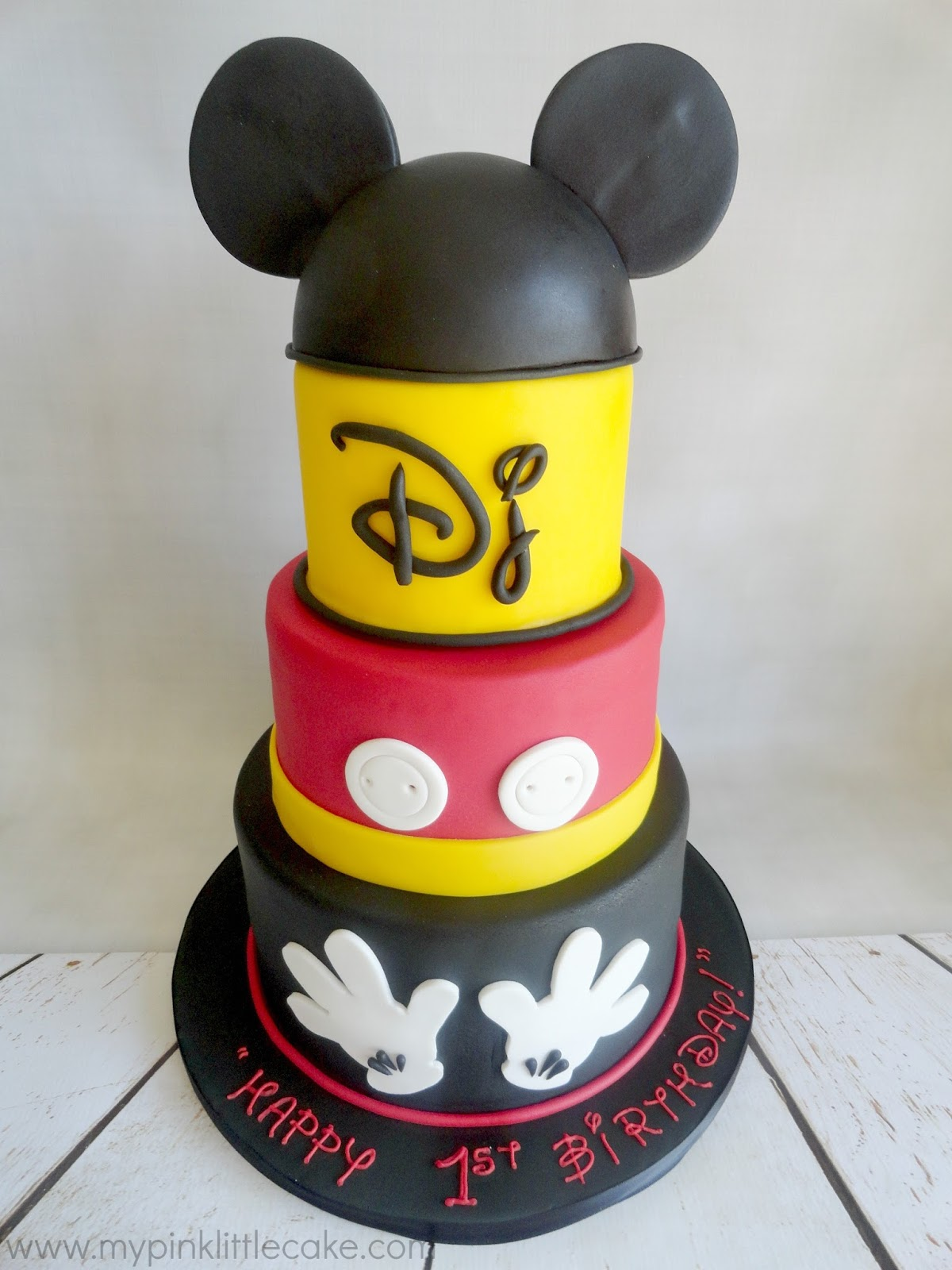 My Pink Little Cake: Mickey Mouse Theme Birthday Cake