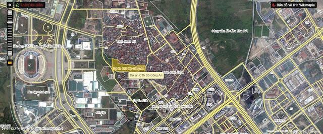 Vị trí dự án căn hộ chung cư C15.