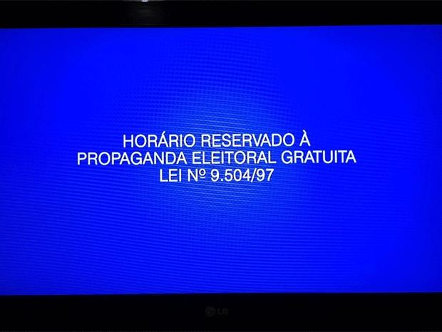 Horário reservado a propagando eleitoral gratuita