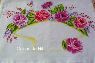rosas para cesta de croche