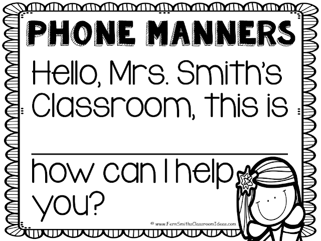Fern Smith's Classroom Ideas Tuesday Teacher Tips: Phone Call Interruptions