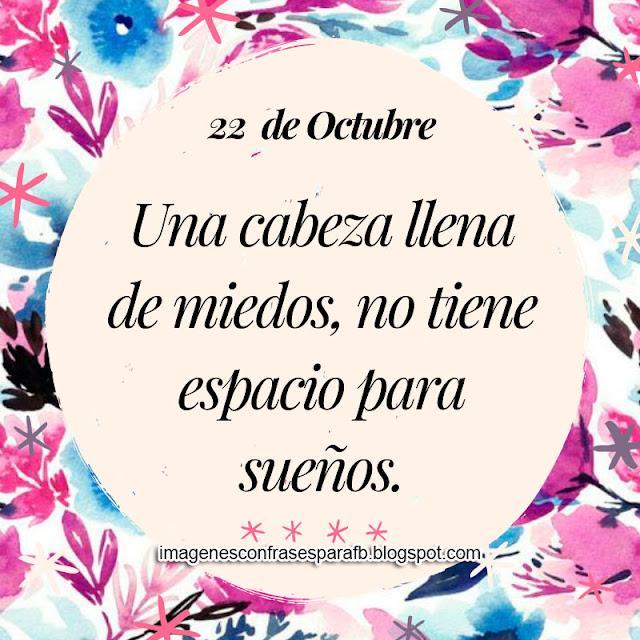 Frase del Día 22 de Octubre