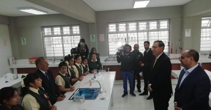 Presidente Vizcarra inaugura remodelación de colegio «Esther Cáceres Salgado» en el Rímac - UGEL 02
