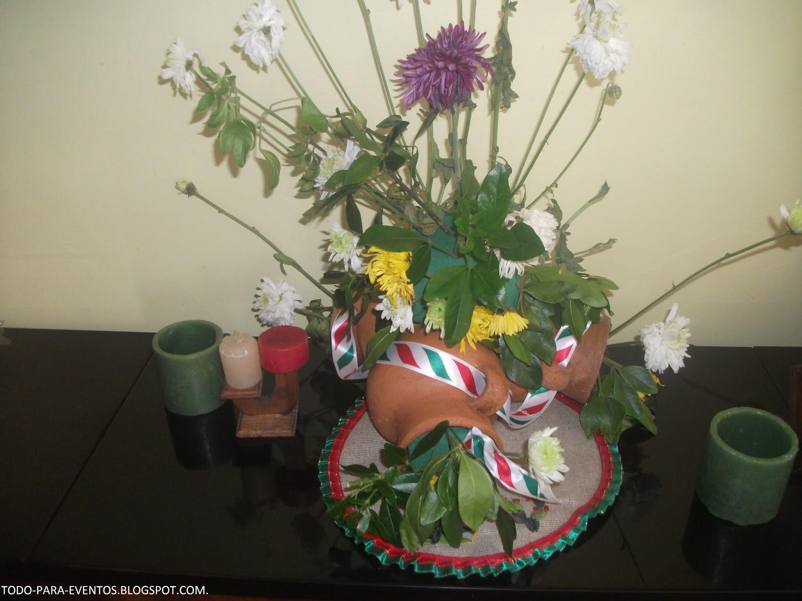 Todo Para Eventos Arreglo Floral En Ollas De Barro
