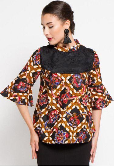 Model Baju Batik Kerja Wanita Elegant