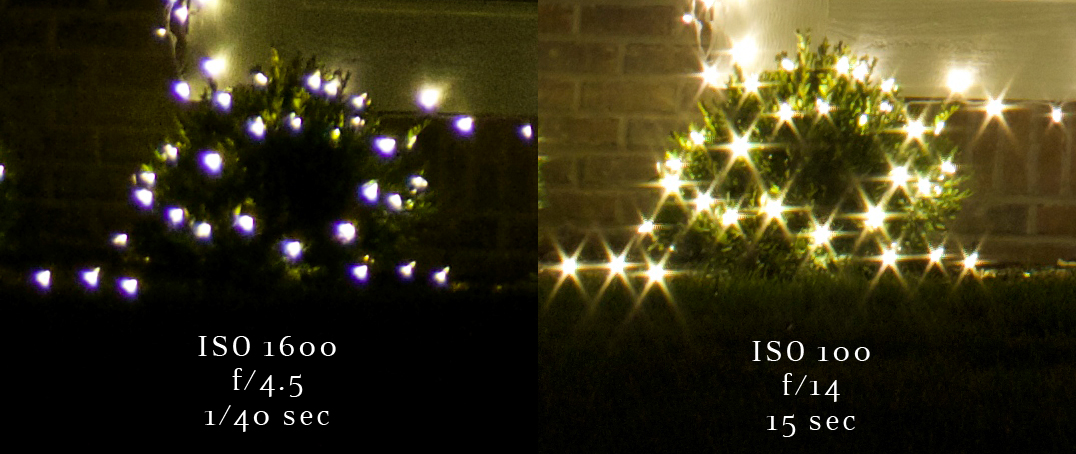 christmas light camera settings