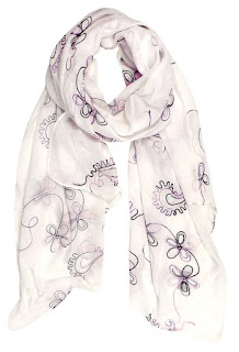 Blossom Embroidered Sheer Scarf $8 (reg $25) - in 5 colors