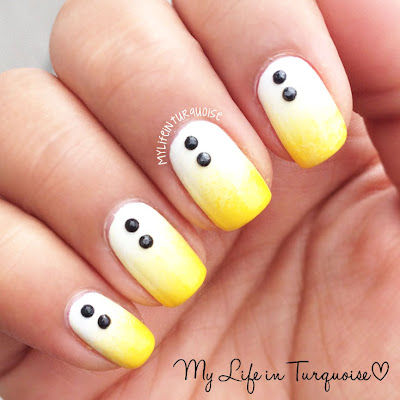 Yellow-Gradient-Nail-Art