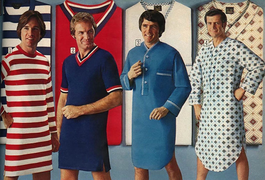 Divertidas fotos lembram anúncios de roupas masculinas dos anos 70 ... 988a468a70849