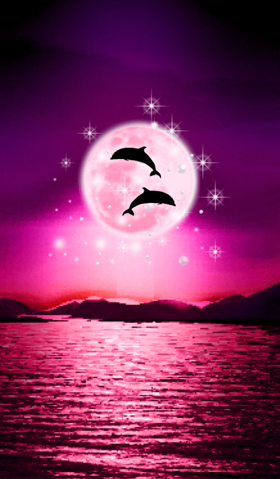 Lucky Strawberry Moon double dolphins 7
