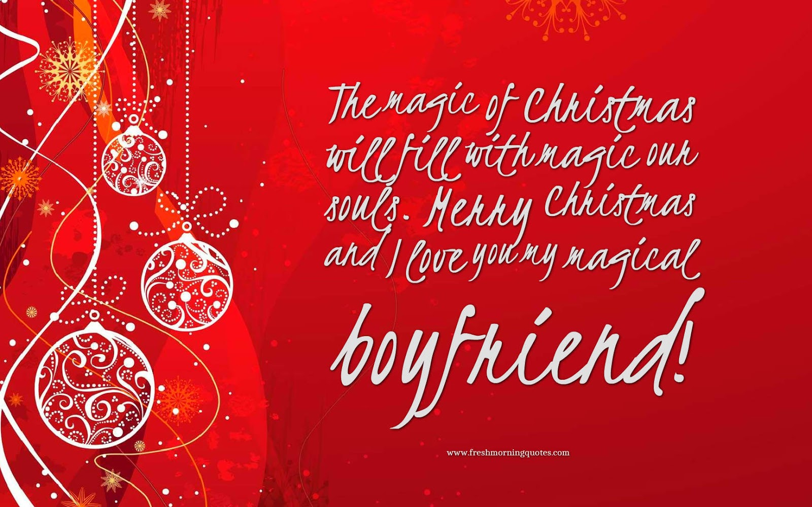 Christmas wishes messages for boyfriend girlfriend
