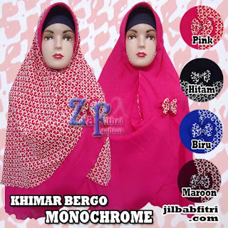 Khimar-bergo-motif-monochrome-terbaru-cantik